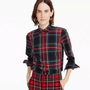 J. Crew Perfect Shirt in size 2, Stewart Plaid